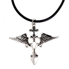 AC002 Кулон со шнурком Ангельский крест