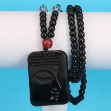 AK022-1 Амулет Будда с чётками