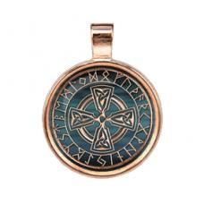 ALE252 Рунический амулет Солнечный Крест (Золотая коллекция)