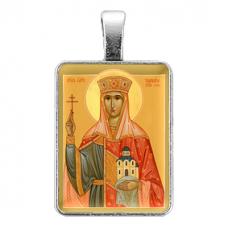 ALE322 Нательная иконка Святая царица Тамара