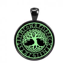 ALE543 Светящийся амулет Дерево жизни