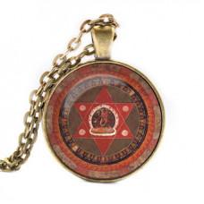 ALK025 Кулон с цепочкой Ваджрайогини мандала, цвет бронз.