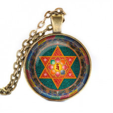 ALK043 Кулон с цепочкой Ваджрайогини мандала, цвет бронз.
