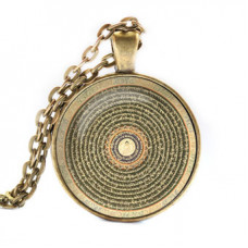 ALK052 Кулон с цепочкой Будда мандала, цвет бронз.