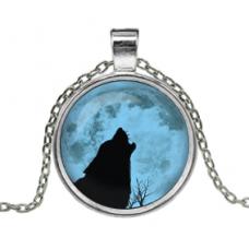 ALK102 Кулон с цепочкой Волк