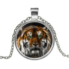 ALK120 Кулон с цепочкой Тигр