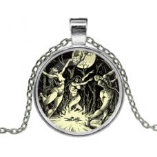 ALK142 Кулон с цепочкой Шабаш ведьм