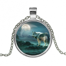 ALK144 Кулон с цепочкой Волк