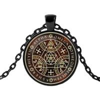 ALK403 Чёрный кулон с цепочкой Тетраграмматон