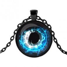 ALK407 Чёрный кулон с цепочкой Глаз