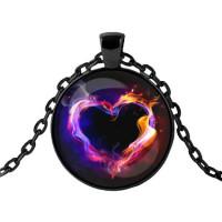 ALK409 Чёрный кулон с цепочкой Любовная магия
