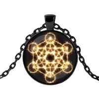 ALK435 Чёрный кулон с цепочкой Магический куб
