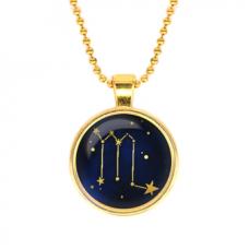 ALK508 Кулон с цепочкой Знаки Зодиака - Скорпион, цвет золот.