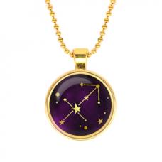 ALK509 Кулон с цепочкой Знаки Зодиака - Стрелец, цвет золот.