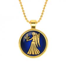 ALK518 Кулон с цепочкой Знаки Зодиака - Дева, цвет золот.