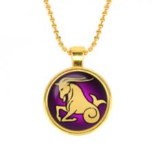 ALK522 Кулон с цепочкой Знаки Зодиака - Козерог, цвет золот.
