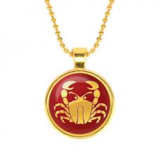 ALK528 Кулон с цепочкой Знаки Зодиака - Рак, цвет золот.