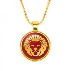 ALK529 Кулон с цепочкой Знаки Зодиака - Лев, цвет золот.