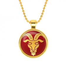 ALK534 Кулон с цепочкой Знаки Зодиака - Козерог, цвет золот.