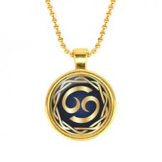ALK540 Кулон с цепочкой Знаки Зодиака - Рак, цвет золот.