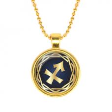 ALK545 Кулон с цепочкой Знаки Зодиака - Стрелец, цвет золот.