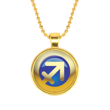 ALK557 Кулон с цепочкой Знаки Зодиака - Стрелец, цвет золот.