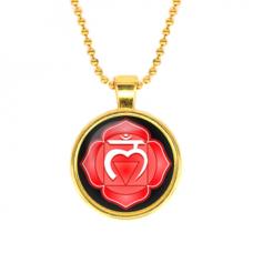 ALK561 Кулон с цепочкой Муладхара чакра, цвет золот.