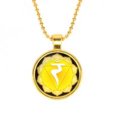 ALK563 Кулон с цепочкой Манипура чакра, цвет золот.