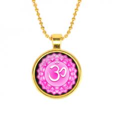 ALK567 Кулон с цепочкой Сахасрара чакра, цвет золот.