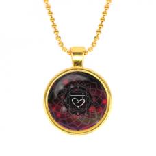 ALK568 Кулон с цепочкой Муладхара чакра, цвет золот.