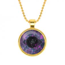 ALK573 Кулон с цепочкой Аджна чакра, цвет золот.