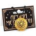 "AM001-G Аромамедальон ""Мандала"" открывающийся 3см цвет золото"