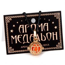 """AM005-G Аромамедальон """"Свадхистхана чакра"""" открывающийся 2см, цвет золото"""