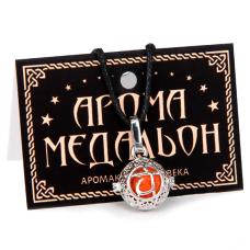 """AM005-S Аромамедальон """"Свадхистхана чакра"""" открывающийся 2см, цвет серебро"""
