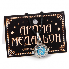 "AM007-S Аромамедальон ""Вишуддха чакра"" открывающийся 2см, цвет серебро"