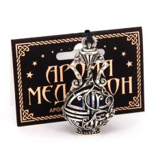 AM032-S Аромамедальон Сосуд высокий 5,5см цвет серебро