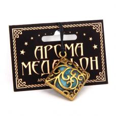 AM033-G Аромамедальон Ромб 3,8см цвет золото