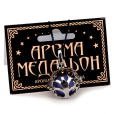 AM047 Аромамедальон открывающийся Дерево 2,6см цвет серебр.