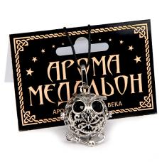 AM048 Аромамедальон открывающийся Сова 3см цвет серебр.