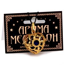 AM053-G Аромамедальон открывающийся Сердце 2,9см цвет золот.