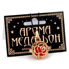 AM066 Аромамедальон открывающийся Шар роза 2,5см цвет золот.