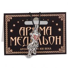 AM078 Аромамедальон открывающийся Рыбка 3,8см цвет серебр.