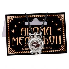 AM104-S Аромамедальон открывающийся Сова 26х19,5мм, цвет серебр.