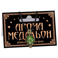 AM111-B Аромамедальон открывающийся 25x12мм, цвет бронз.