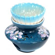 ARL004 Аромалампа Сатурн 9х9см, керамика, съёмная чашка, ручная роспись