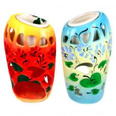 ARL009 Аромалампа Цикламен 14х8х6см, керамика, ручная роспись в ассорт.