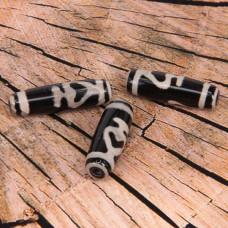 BDZ001-01D Тибетская бусина Дзи, натуральный агат, 1 шт, размер 29~30,5x9~12мм