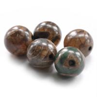 BDZA-003-12 Тибетская бусина Дзи, натуральный агат, 1 шт, диаметр ~12мм