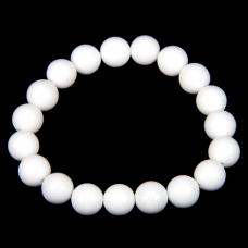 BJBS-014 Браслет из камня Белый агат (пресс) 10мм