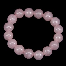 BJBS-096 Браслет из натурального камня Розовый кварц 12мм